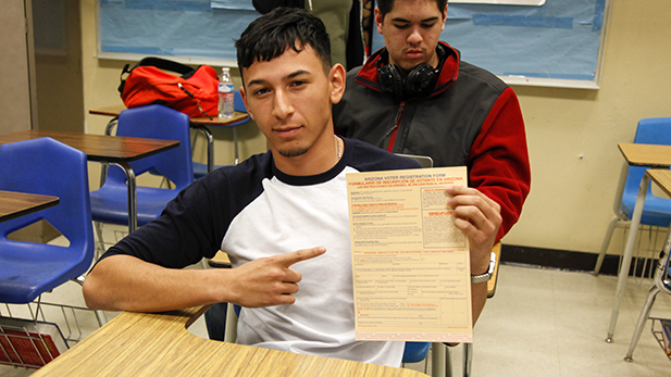 "Ulises Galindo, 18, says he has questions to answer before Election Day. ""Who are the top candidates that are going to be against each other so I know who to vote for and look them up and get more informed. And see which one would be best for me."""