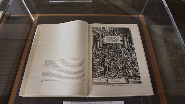 "A facsimile of ""De Humani Corporis Fabrica"" by Andreas Vesalius, Budapest, 1972. Originally published in 1543. At the University of Arizona Library's Special Collections ""Shakespeare's Contemporaries and Elizabethan Culture"" display through July 29, 2016."
