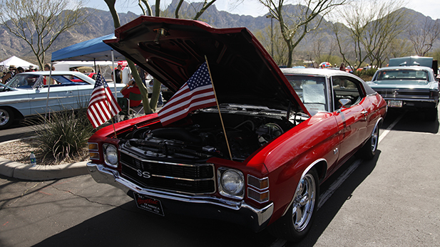 The Cruise, BBQ and Blues Car Show in Oro Valley on Feb. 20, 2016.