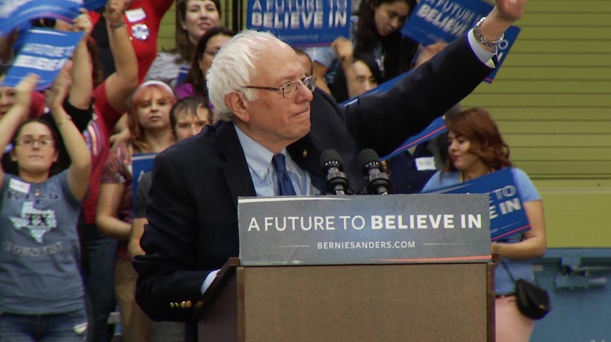 Democrat Bernie Sanders campaigns in Tucson.  March 18, 2016