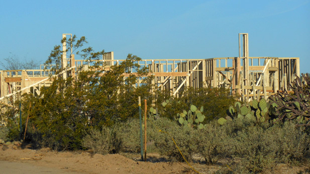 A new home being built on Tucson's Northwest side.