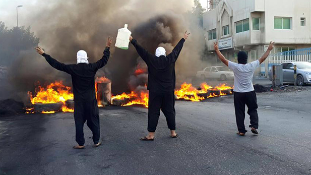 Shia protesters hit the streets in eastern Saudi Arabia in late 2015