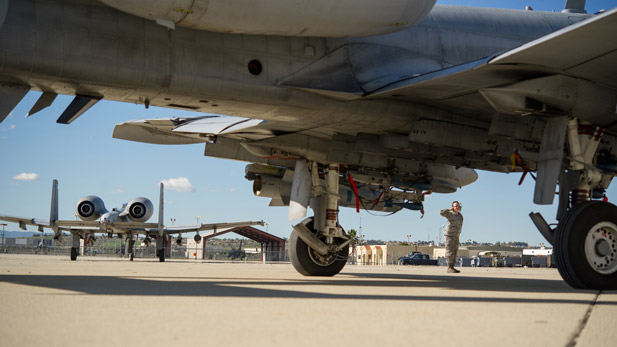 A-10 from Davis-Monthan spotlight