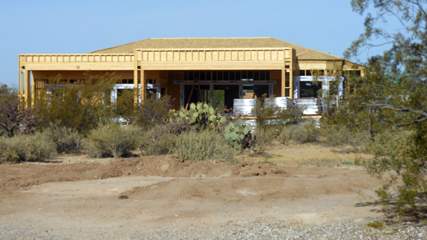A new home is built on Tucson's northwest side.