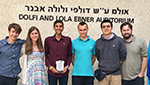 The Gregory School team (from left) Daniel Leighou, Elaine Wright, Jaiveer Katariya, Moritz Gloesslein, Tianyi Zhu and physics teacher Dennis Conner in Rehovot, Israel.