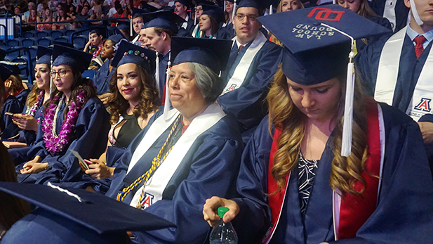 Karen Schaffner has been waiting for her graduation day for a very long time.