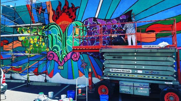 Downtown mural AB spot