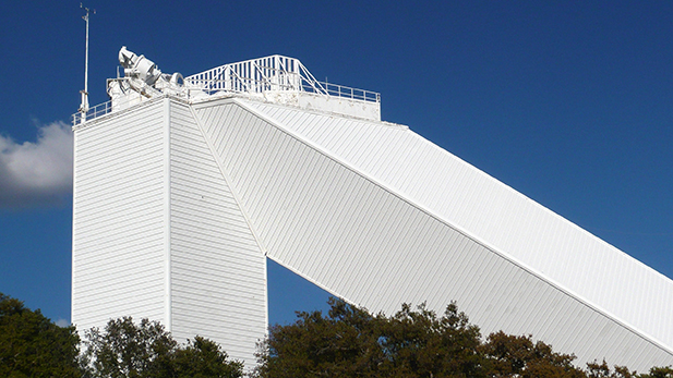 Completed in 1962, the National Solar Observatory's McMath-Pierce Solar Telescope at Kitt Peak, Arizona, is the world's largest solar telescope.