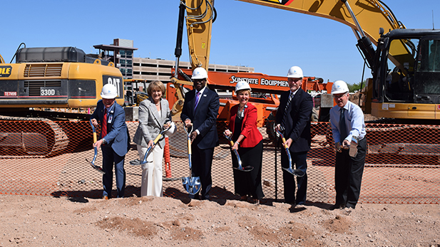 Banner Health, University of Arizona and city of Tucson officials broke ground for the new University Medical Center hospital May 26, 2016.