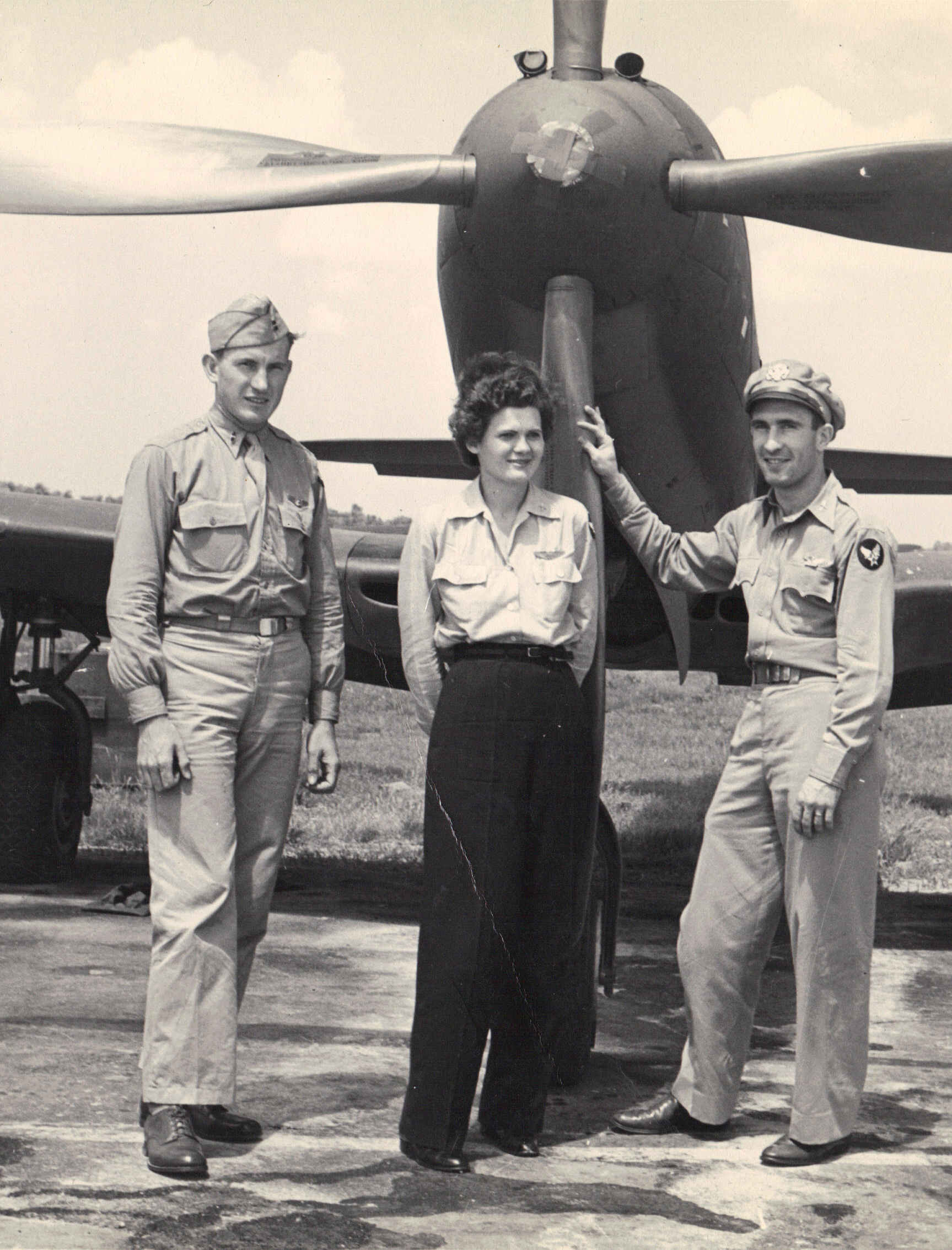 Ruth Helm with other pilots of P-63 portrait