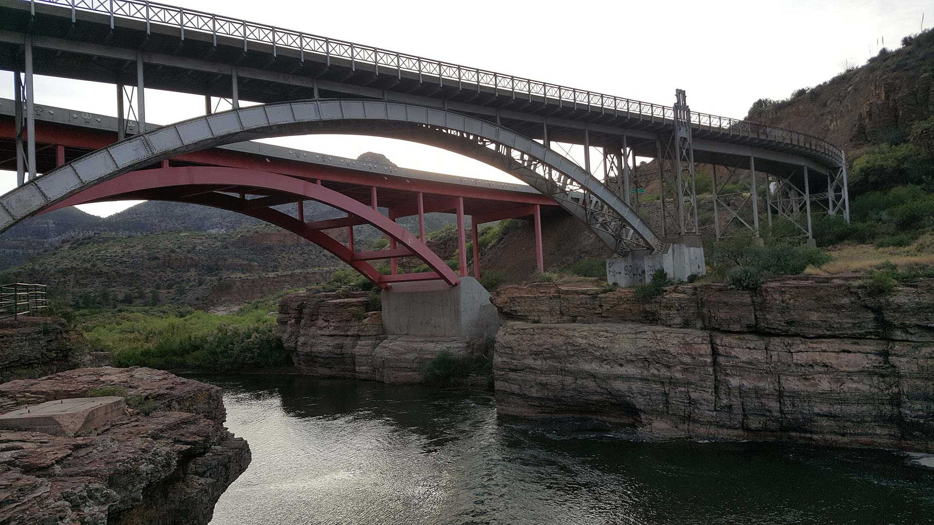 The Salt River Canyon Bridge in central Arizona.