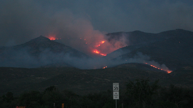 Yarnell and Peeples Valley were evacuated because of this wildfire.