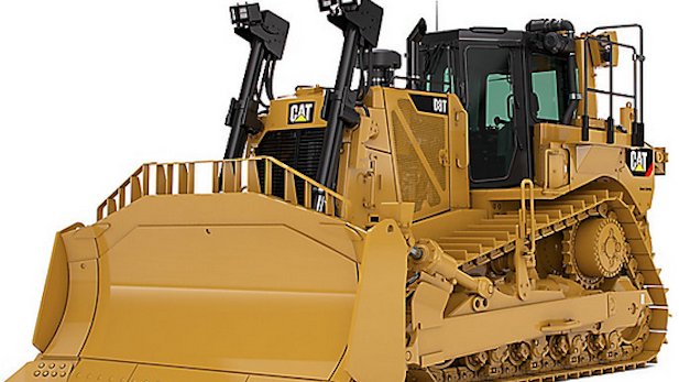 Caterpillar bulldozer spotlight