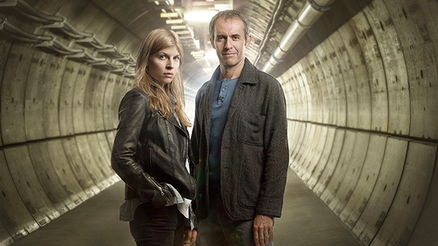 Clemence Posey as Elise and Stephen Dillane as Karl