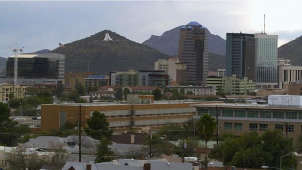 Sentinal Peak, also known as A Mountain, overlooks downton Tucson.