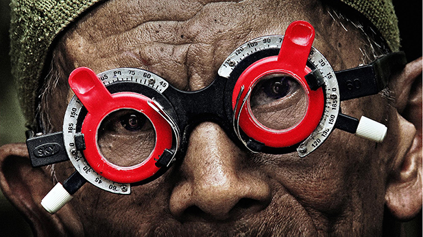 "A scene from Joshua Oppenheimer's documentary ""The Look of Silence"""