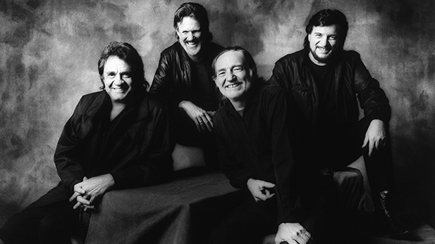 The Highwaymen, (l-r) Johnny Cash, Kris Kristofferson, Willie Nelson and Waylon Jennings