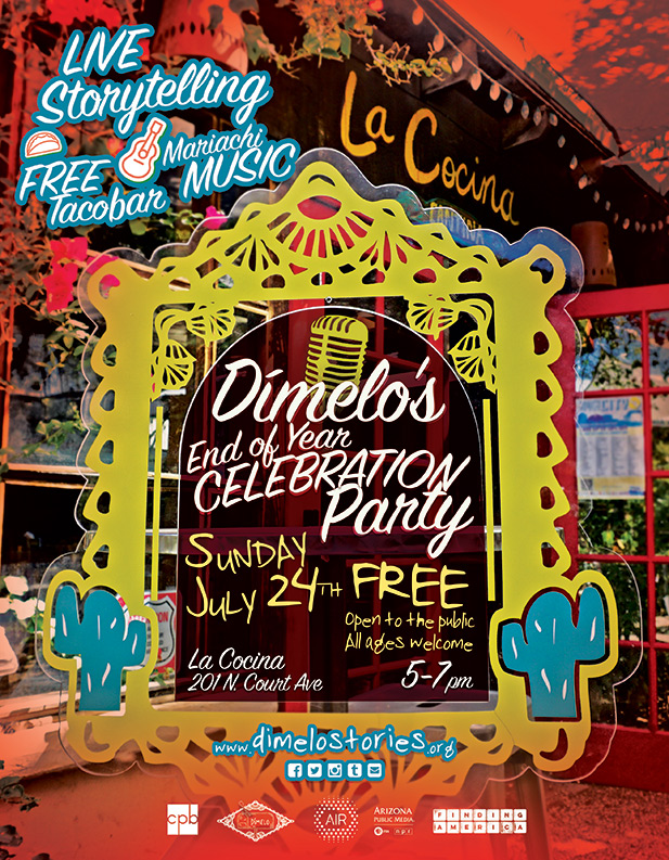 Dimelo End of Year Party flyer