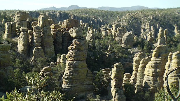 Unusual rock formations in the Chiracahuas.