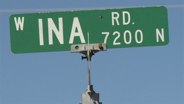ina road sign spotlight