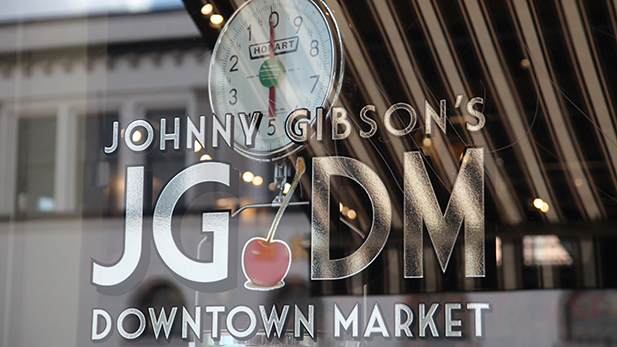 Johnny Gibson's Downtown Market logo spotlight