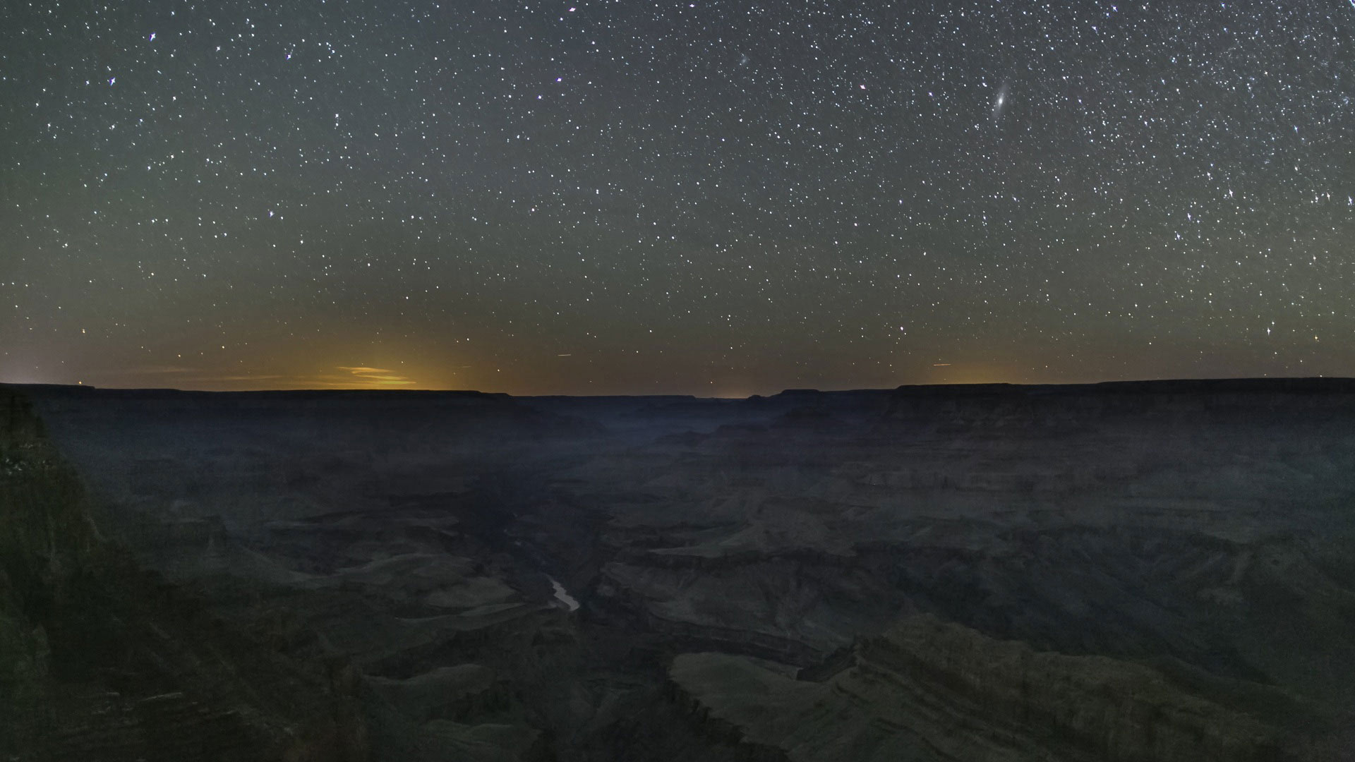 Stars, Night Sky, Grand Canyon hero