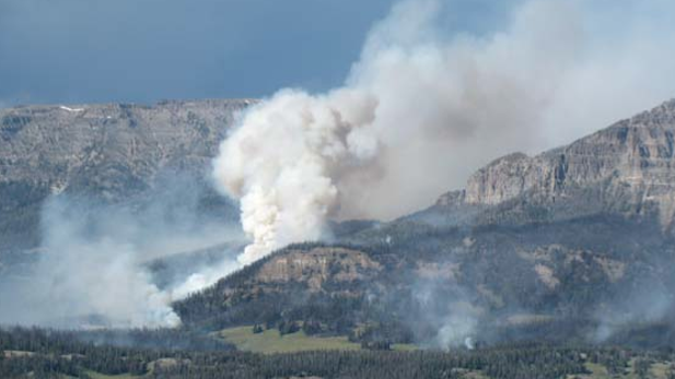 2016 Smokehouse Fire in Bridger-Teton National Forest, Wyoming.