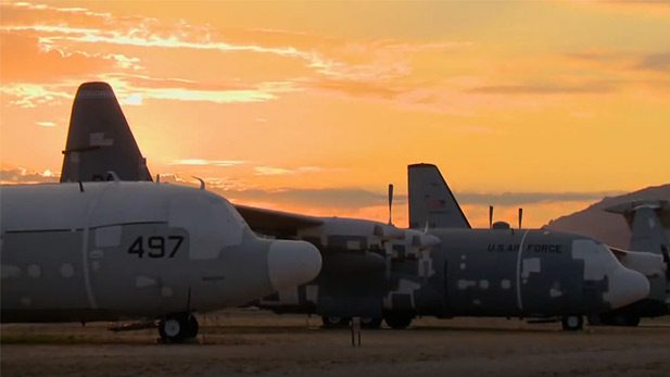 The boneyard at sunset.