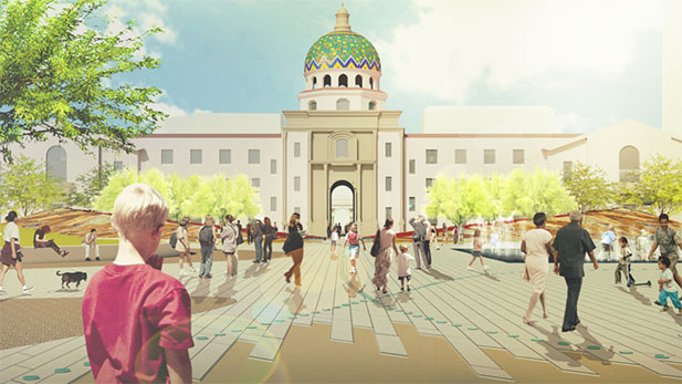 Final design for the Jan. 8 memorial by the Chee Salette Architecture Office.