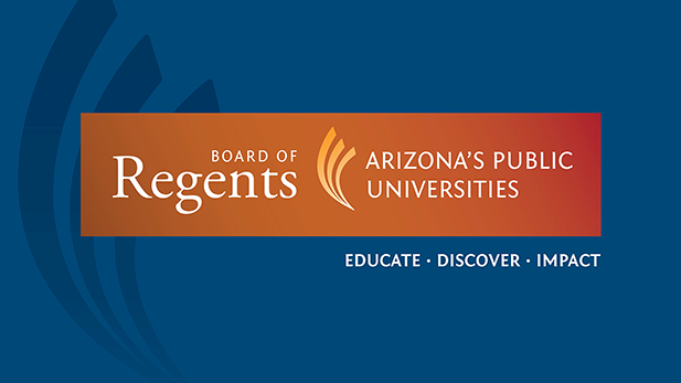 The logo for the Arizona Board of Regents.