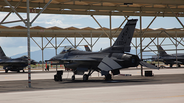 One of the 80 F-16s that fly out of the Arizona Air National Guard's 162nd Fighter WIng.