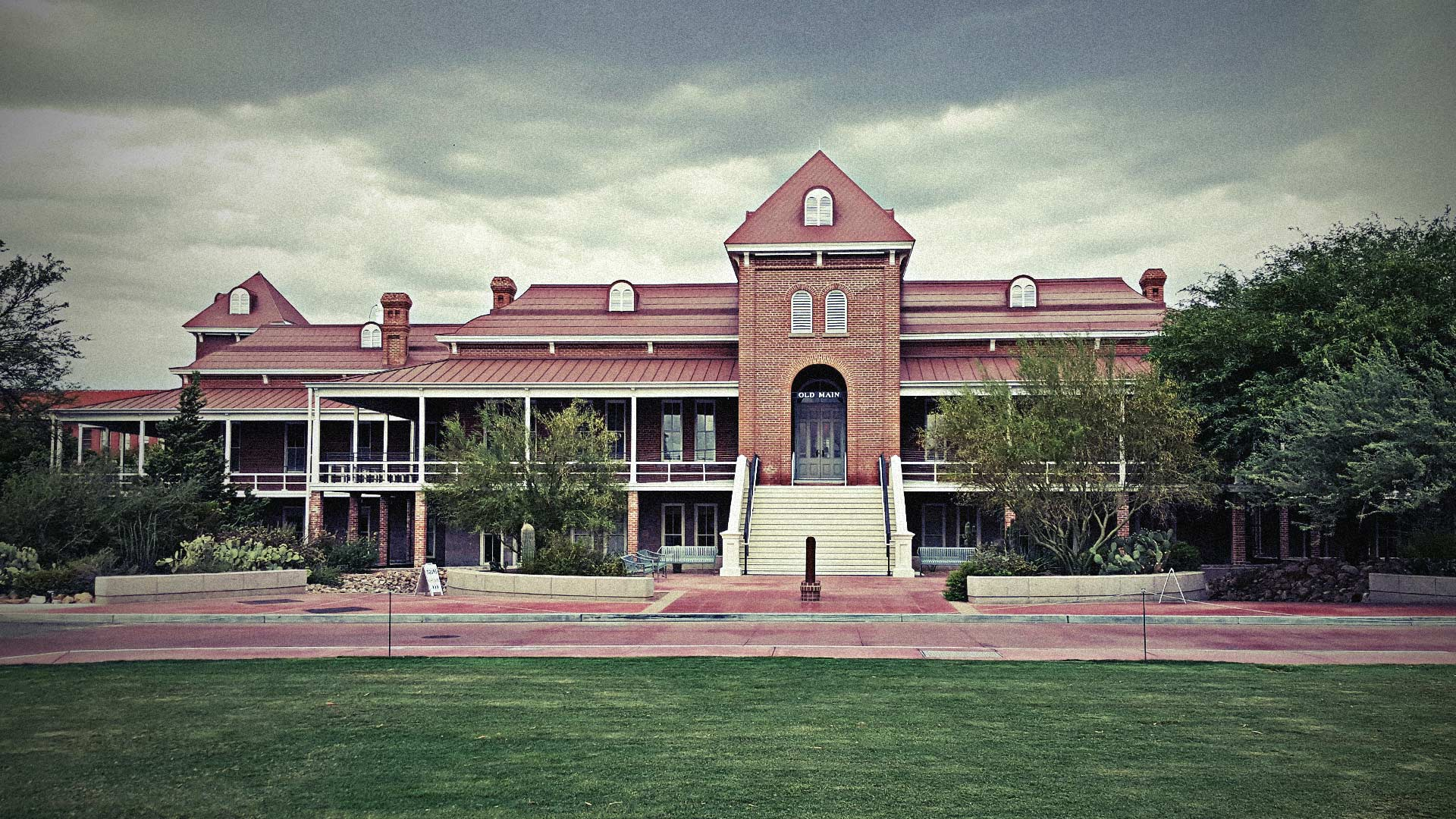The iconic Old Main building on the campus of the University of Arizona.