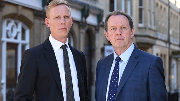 Left to right: Laurence Fox as DI Hathaway and Kevin Whately as DI Lewis