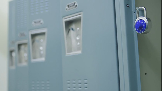 A locker at Desert Christian High School.