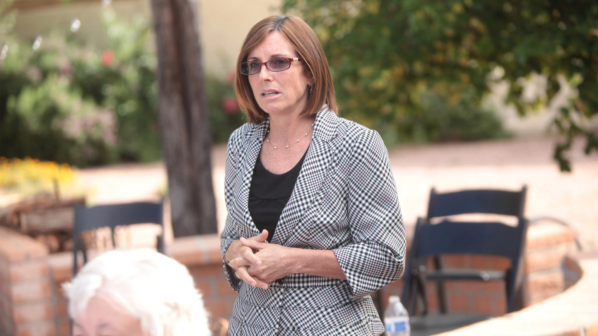 Martha McSally speaking at a women's breakfast hosted by Congresswoman Ann Wagner of Missouri in Scottsdale, Arizona.