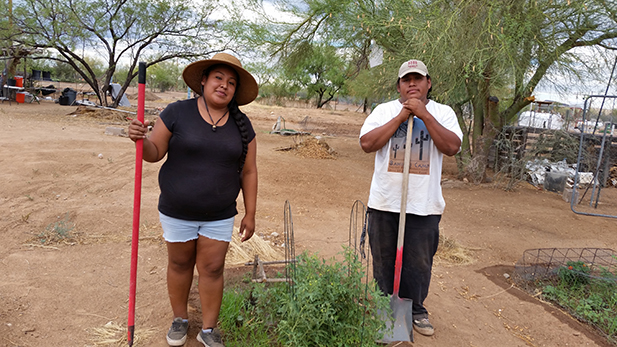 "Samantha Felix and Jesse Pablo run TOCA's Project Oidag, which means ""garden."" Click to listen to them describe their work teaching youth about traditional foods."