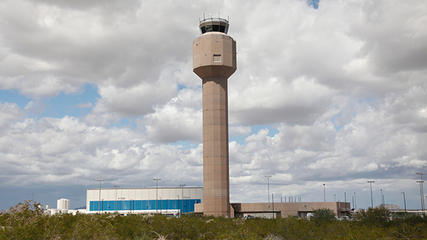 The new air traffic control tower for Tucson International Airport