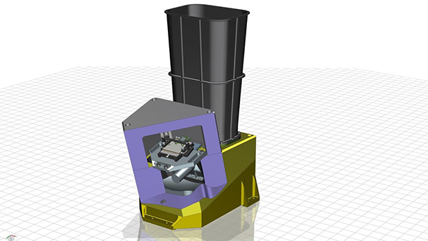 A CAD rendering of the E-THEMIS instrument.