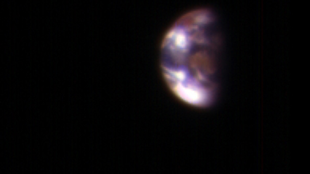 Earth and Moon seen from Mars in November 2016