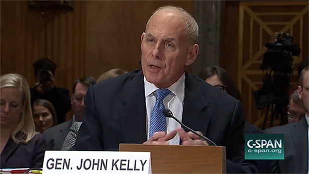 John Kelly confirmation spot