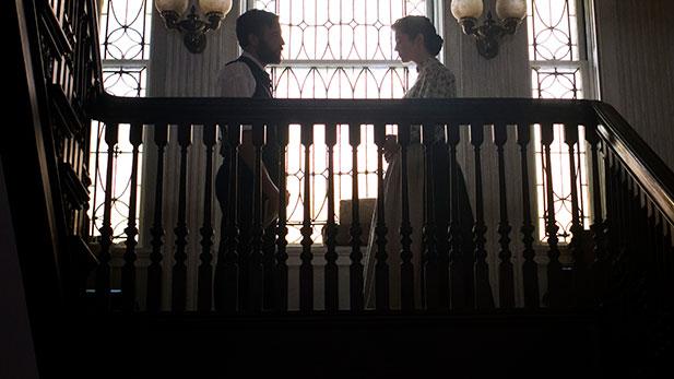 Dr. Jedediah Foster (Josh Radnor) and Nurse Mary Phinney (Mary Elizabeth Winstead)