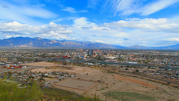 Tucson seen from Sentinel Peak.