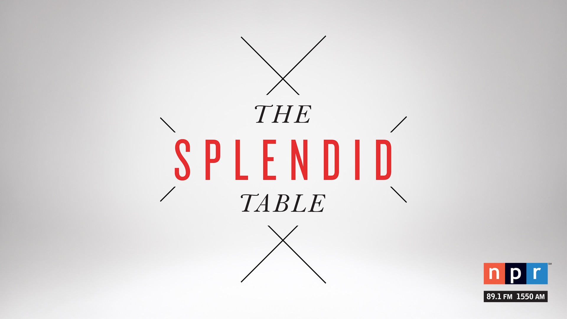 The Splendid Table airs Saturdays on NPR 89.1.
