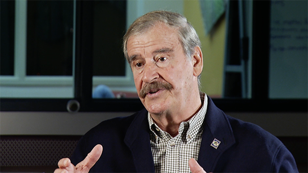 Former Mexican President Vicente Fox speaks with AZPM, January 2017.