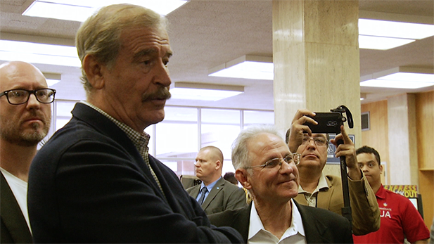 Startup Tucson's Justin Williams, former Mexican President Vicente Fox and Tucson Mayor Jonathan Rothschild in Tucson, January 2017.
