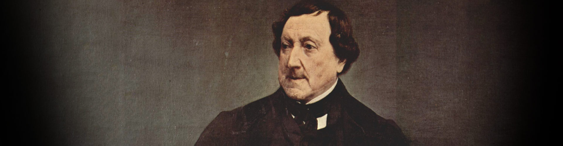Gioachino Rossini in a painting by Francesco Hayez, 1870.