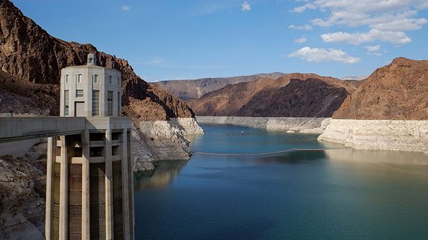 A view from the Lake Mead side of the Hoover Damn.