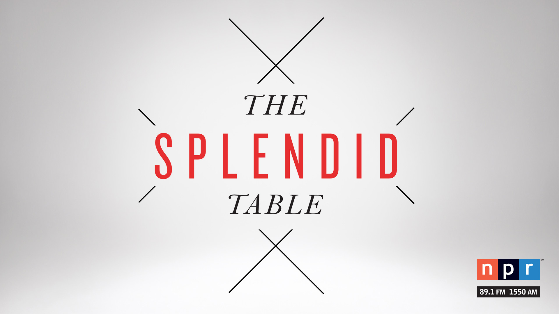 The Splendid Table airs Saturdays at 1 p.m. on NPR 89.1.