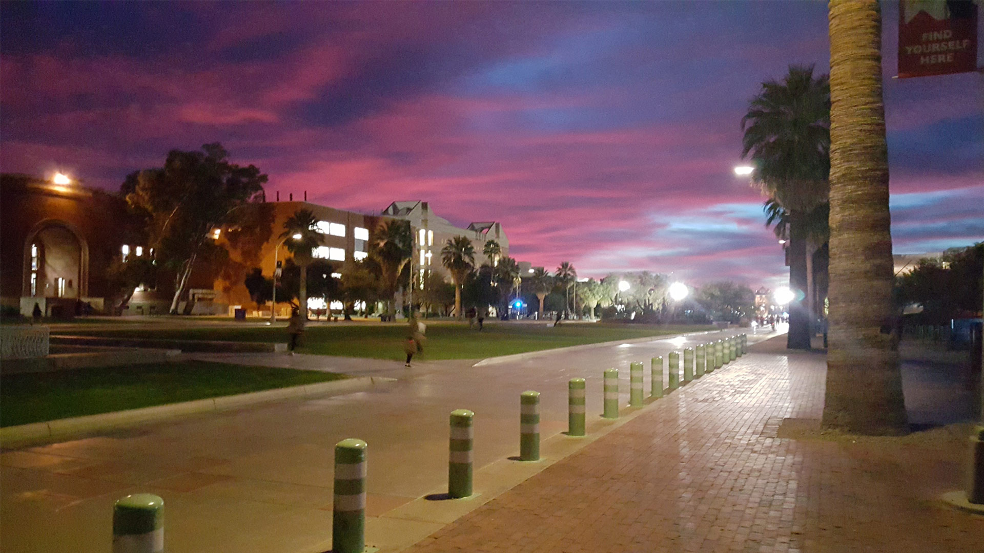 University of Arizona campus sunset hero