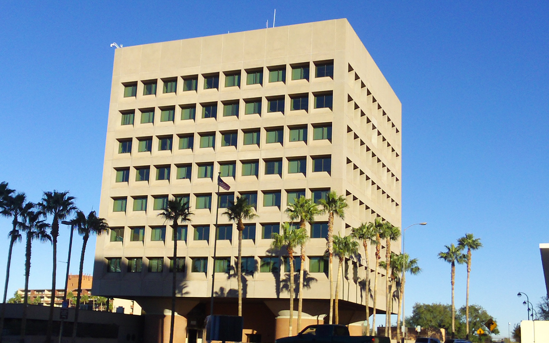 The federal building in downtown Tucson.
